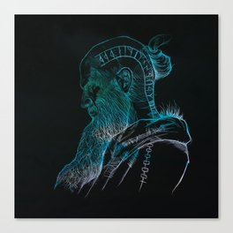 Floki, the boat builder Canvas Print