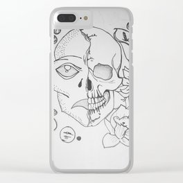 Two Worlds Clear iPhone Case