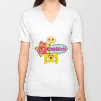 adventure V-neck T-shirts featuring Adventure! by Silvio Ledbetter