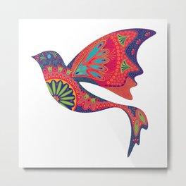 Kaleidoscope Bird Metal Print