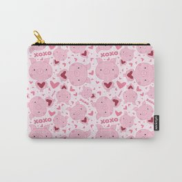 Valentine Piggy Pattern Carry-All Pouch