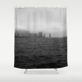 misty windy city Shower Curtain