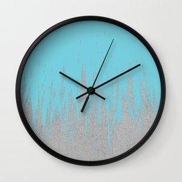Concrete Fringe Aqua Wall Clock