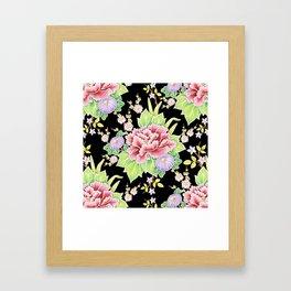 Kimono Bouquet Chintz Framed Art Print