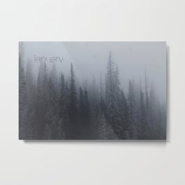 Evening Fog Metal Print