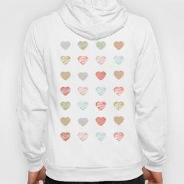 AFE Pastel Hearts Pattern Hoody