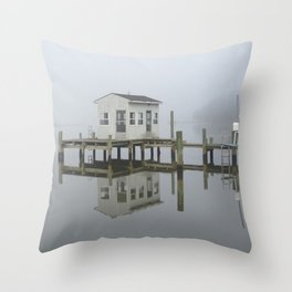 Eastern Branch Boat House Throw Pillow