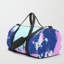 Takamoto - Abstract Rorschach Butterfly Pink Blue Duffle Bag