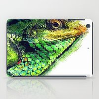 chameleon iPad Cases featuring chameleon by jbjart