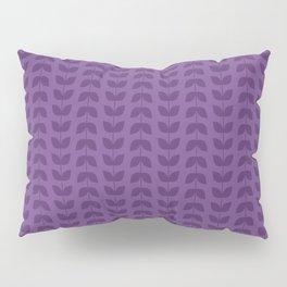 Royal Lilac Leaves Pillow Sham