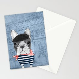 French Bulldog. (panoramic view version) Stationery Cards