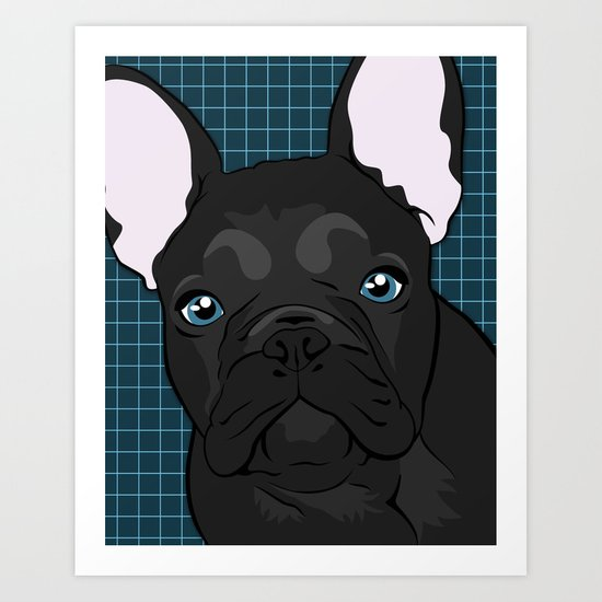Black Frenchie Art Print
