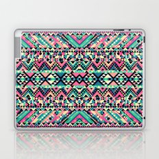 Pink Turquoise Girly Aztec Andes Tribal Pattern Laptop & iPad Skin