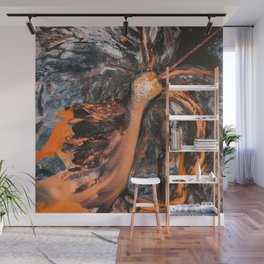 Abstract Painting - Volcano Eruption Aerial Wall Mural