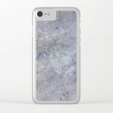 Speckled Blue and Gray Marble Clear iPhone Case
