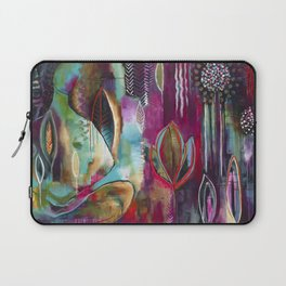 """""""Held and Healed"""" Original Painting by Flora Bowley Laptop Sleeve"""
