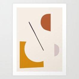 abstract minimal 27 Art Print
