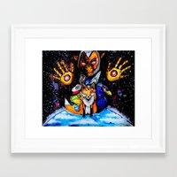 starfox Framed Art Prints featuring STARFOX by Modern8bit