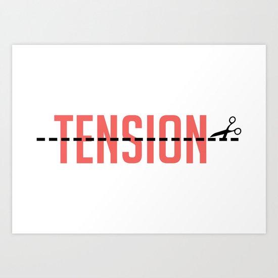 Tension Art Print