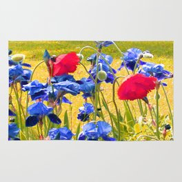 Poppies and Iris's Rug