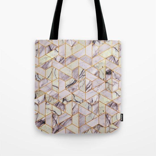 Vintage Marble Art Deco Pattern Tote Bag