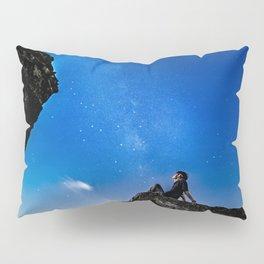 Dreaming under starry sky Pillow Sham