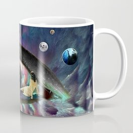 In your eyes I see the Universe. *Futuristic / Sci-Fi* Surreal Digital Collage. Coffee Mug