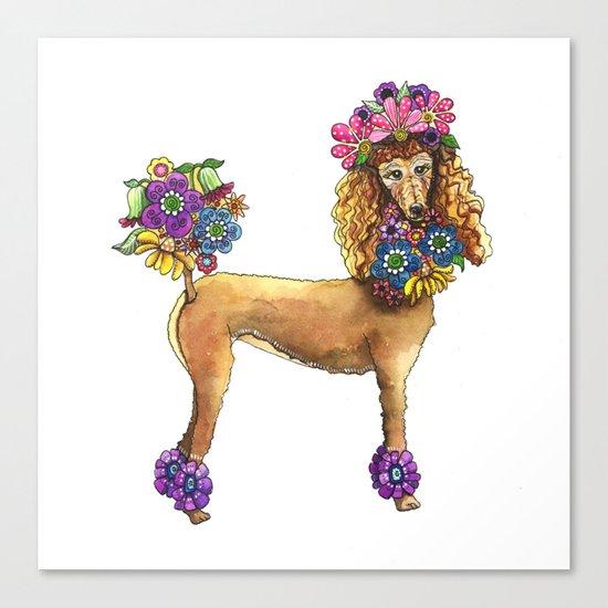 Poodle Dee Doo Canvas Print