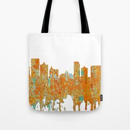 Atlantic City Skyline - Rust Tote Bag