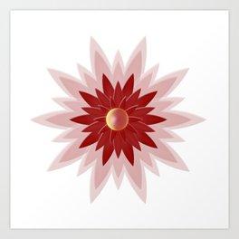 Red Christmas Flower Art Print