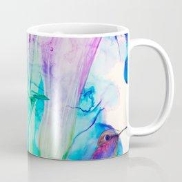 alcohol inks spring floral Coffee Mug