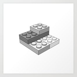 Bricks - Gray Art Print
