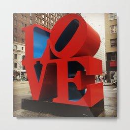 Love Sculpture - NYC Metal Print