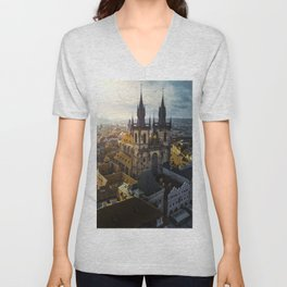 Classic Prague Unisex V-Neck