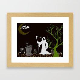 Grim Reaper Cemetary Framed Art Print