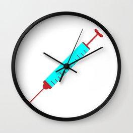Simple Cartoon Style Hypodermic Needle Wall Clock