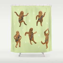 Wookie Dance Party Shower Curtain