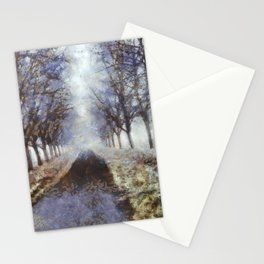 Bord de Saône en Hiver Stationery Cards