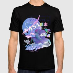 Vaporwave Aesthetics Black 2X-LARGE Mens Fitted Tee