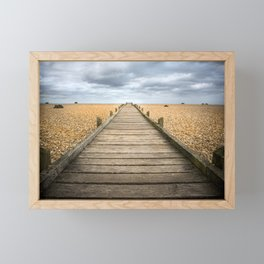 Beach Walkway Framed Mini Art Print