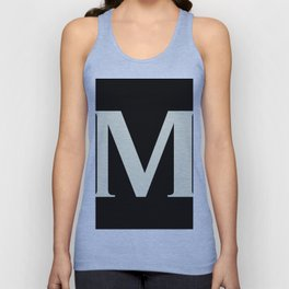 M MONOGRAM (BEIGE & BLACK) Unisex Tank Top