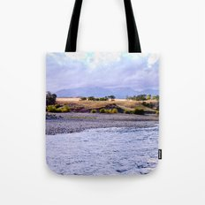 Camping on the Yellowstone River Tote Bag