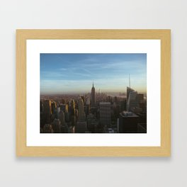 Manhattan Sunset Framed Art Print