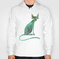 mid century Hoodies featuring Mid-Century Feline by a. peterson