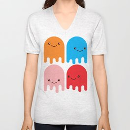 Friendly Ghosts Unisex V-Neck