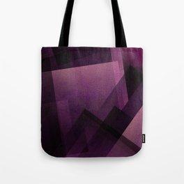 Modular Magenta - Digital Geometric Texture Tote Bag