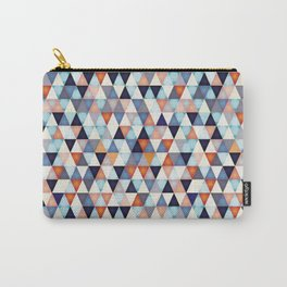 Abstract mosaic triangle colors Carry-All Pouch