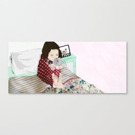 A Child's Love With a Teddy Canvas Print