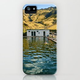 Seljavallalaug iPhone Case