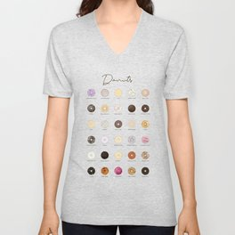 Donut types Unisex V-Neck